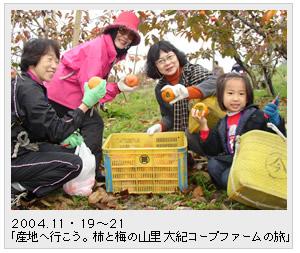 2004.11・19~21「産地へ行こう。柿と梅の山里 大紀コープファームの旅」