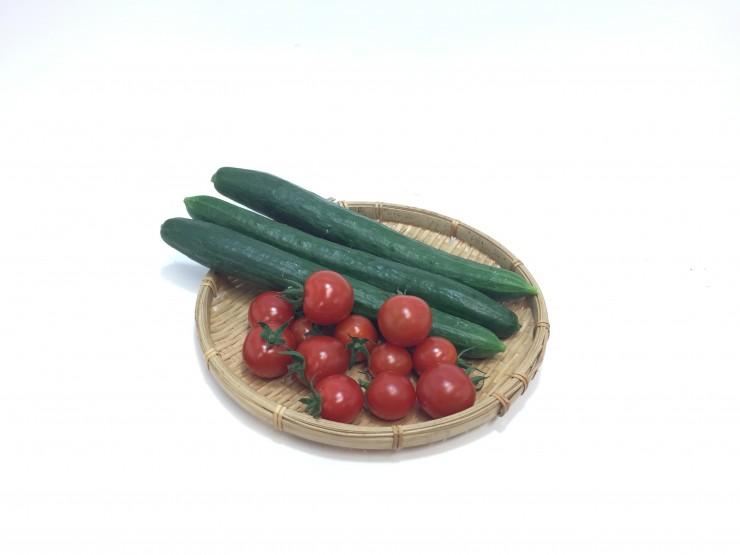 レタス1個+ミニトマト150g