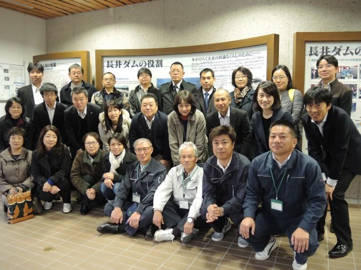 長井ダムにて集合写真